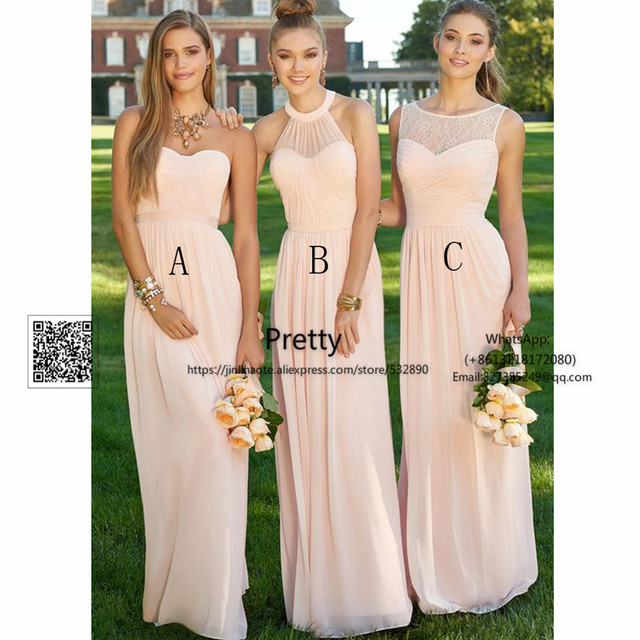 ce378ba18 2017 New Bridesmaid Dresses Long with ABCDE Design Chiffon Wedding Party  Dresses Wedding Guest Formal Women Bridesmaid Dress