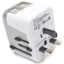 Power Plug Adapter International Travel 4 USB Ports work - 220 Volt Type C A G I for UK