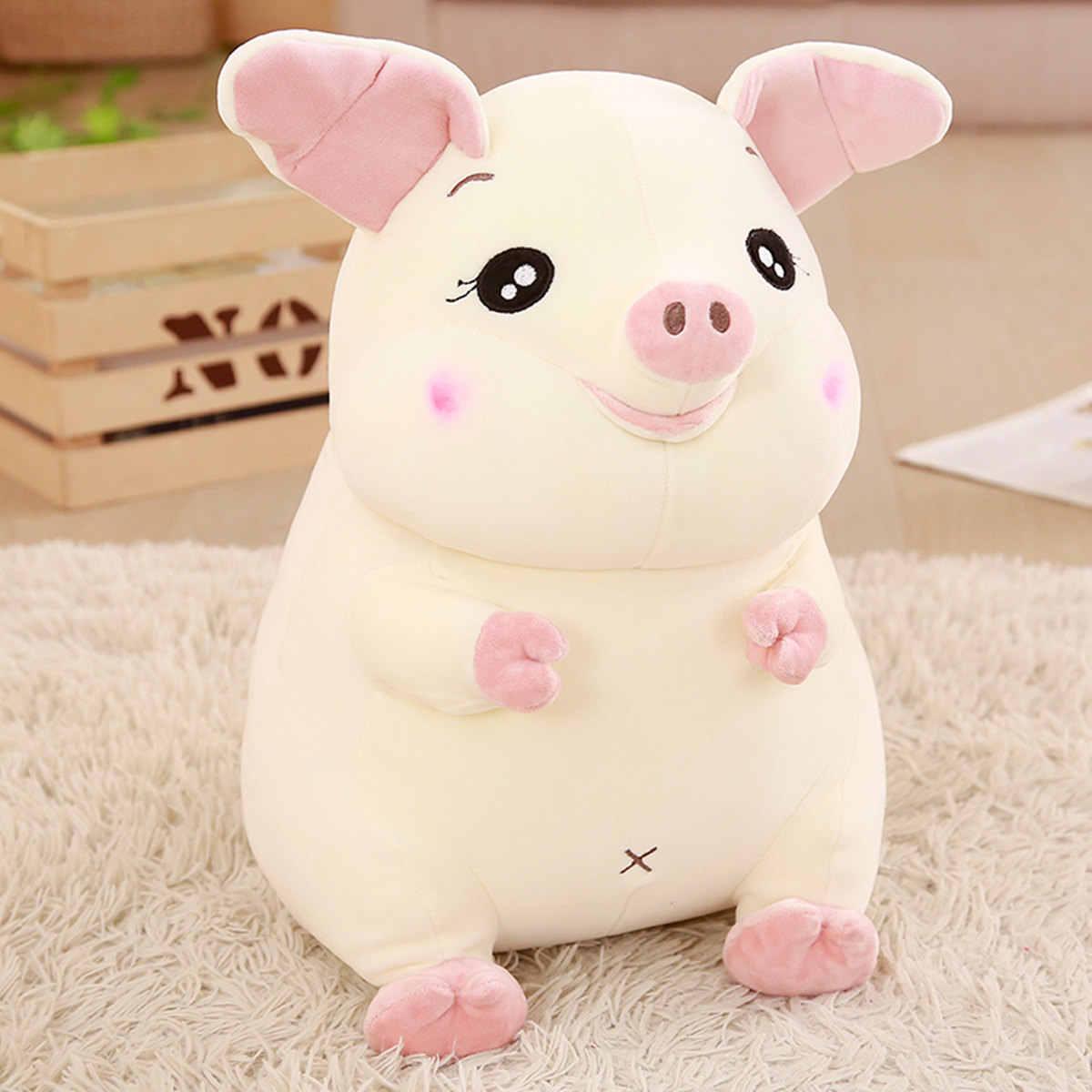Caliente 2019 nuevo suave cerdo rosa de peluche de juguete suave de peluche lindo Animal cerdo muñecas encantadoras para niños Appease juguete bebé la habitación de decoración