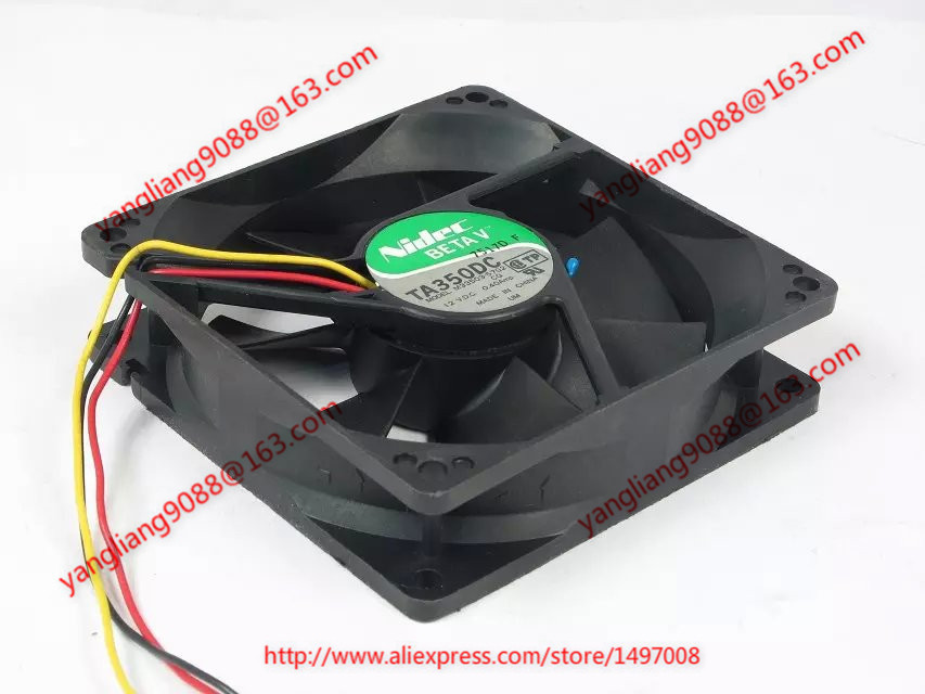 Free Shipping For NIDEC M33503-57G2, CQ DC 12V 0.40A 3-wire 3-pin connector 90mm 90x90x25mm Server Square cooling fan электромеханическая швейная машина vlk napoli 2100