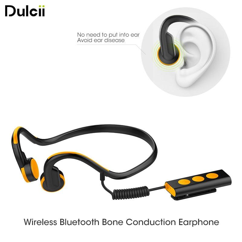 Waterproof Stereo Bluetooth Bone Conduction Sports Neckband Earphone with Mic Wireless Bluetooth Headphones Headset Earpieces wireless bone conduction bluetooth 4 1 headset sports headphones with separate wiring diagram