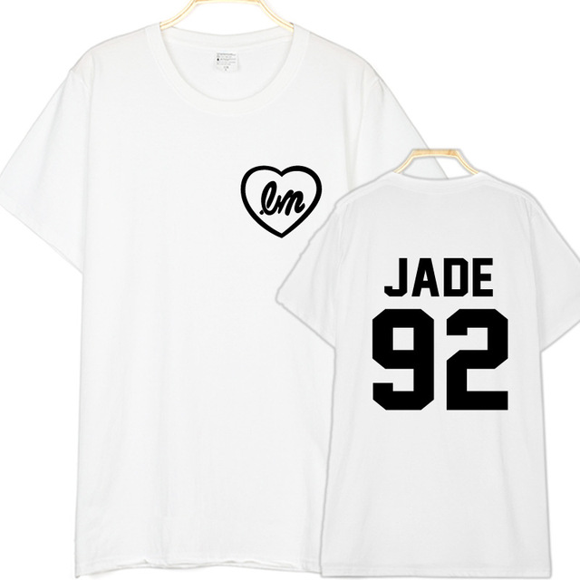d855f44f1e55d7 Little Mix Koszula Koszula Jade Jade Thirlwall 92 Powrotem List Druku Mody Mężczyzna  Kobiet Koszulki Bawełniane