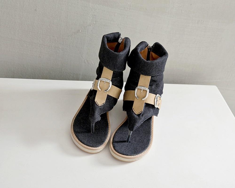 HTB1T2DFLrrpK1RjSZTEq6AWAVXah CDPUNDARI Ladies Denim Flat sandals for women Platform Sandals summer shoes woman Gladiator Sandals sandalias mujer 2019