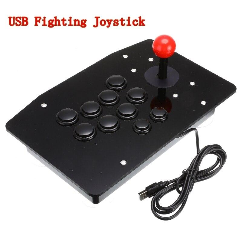 Manette d'arcade 10 boutons USB bâton de combat manette manette de jeu manette de jeu jeu vidéo pour Consoles PC