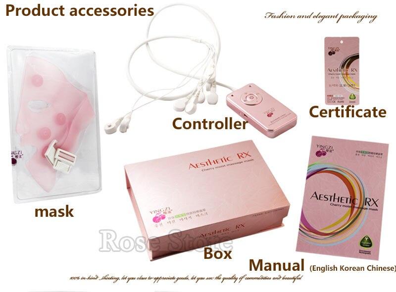 Carga de cara máscara quitar las arrugas Chin elevación de mejillas masaje vibración máscara de rejuvenecimiento de la piel masaje de belleza en spa dispositivo - 6