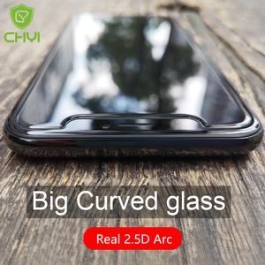 Image 4 - CHYI 9H Big Arc Glass For iphone 12 11 pro max Screen Protector Tempered glass For iPhone XR X XS Max Large arc edge