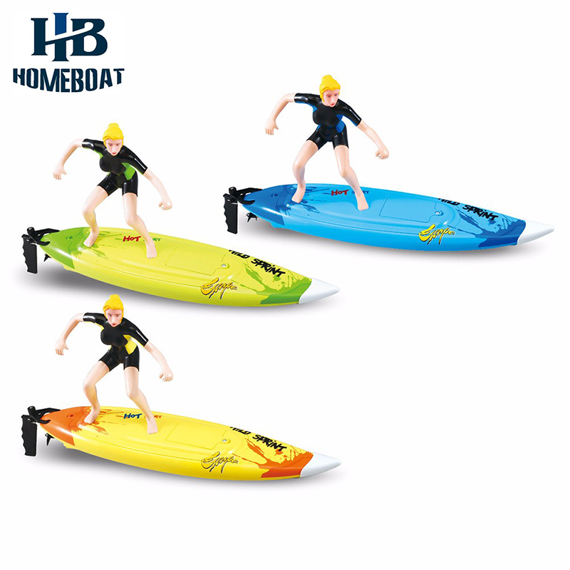 Great Wall 2310 2.4GHz High Speed Remote Control Surfboard RC Surf Boat Surfer Toys in Water for Summer Surfing Fun Gift Child