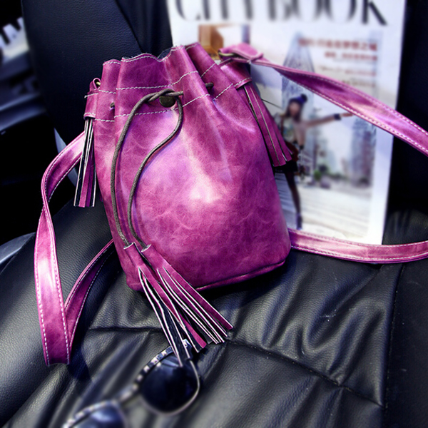 Women bags Tassel fashion bucket bag pu leather patchwork,Faux Suede Leather shoulder bags мультиварка vitek vt 4220 sr 5л 860вт серебристый