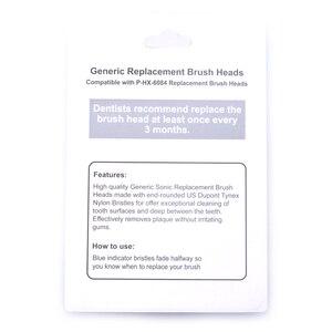 Image 3 - חדש P HX 6084 HX6084 סוניק מברשת שיניים החלפת ראשים אוראלי היגיינה נקי 400 יח\חבילה