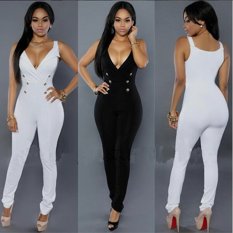 White Bodycon Jumpsuit Photo Album - Reikian
