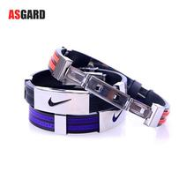 ASGARD Fashion Men and Women Bracelet Retro Personality Titanium Silicone Bracelet Jewelry Wholesale