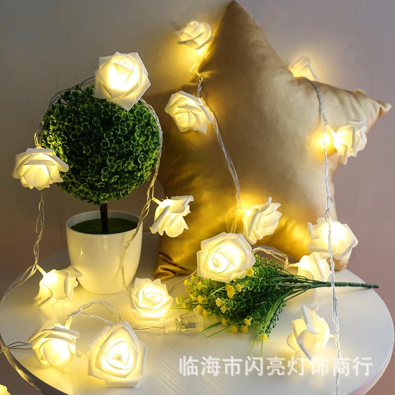 2019 Best Gift LED Rose Flower LED String Lights Batteridrift Event - Ferie belysning - Bilde 2
