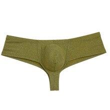 Sexy Men's Shiny Mini Cheeky Boxers Underwear Guys Bulge Pouch Brazilian Bikini Soft Bottoms Boyshort