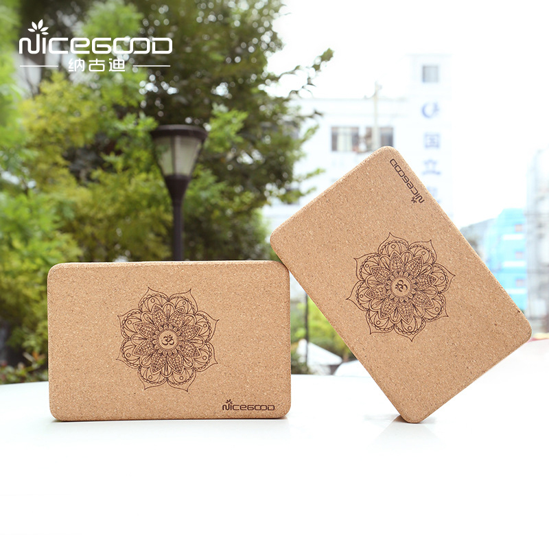 Natural Cork Yoga Block Sports Fitness Body Shaping Gym Exercise Yoga auxiliary Stretching Training Yoga Brick Yoga Equipment 1pc top healthy organic bamboo wood natural wooden yoga brick training block exercise fitness gym practice tool