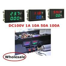 DC 100V 1A 10A 50A 100A мини 0,28 дюйма светодиодный цифровой вольтметр постоянного тока Амперметр Вольт Амперметр Напряжение тока/амперметр