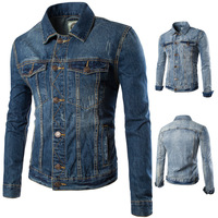 2017 New Autumn And Winter Men S Denim Jacket Mens Fashion Trends Single Breasted Jacket Cotton