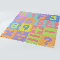 16pcs 30*30*0.9cm EVA Puzzle Mat Kids Play Mat Educational Numbers Figures Learning Puzzle Toys for Children