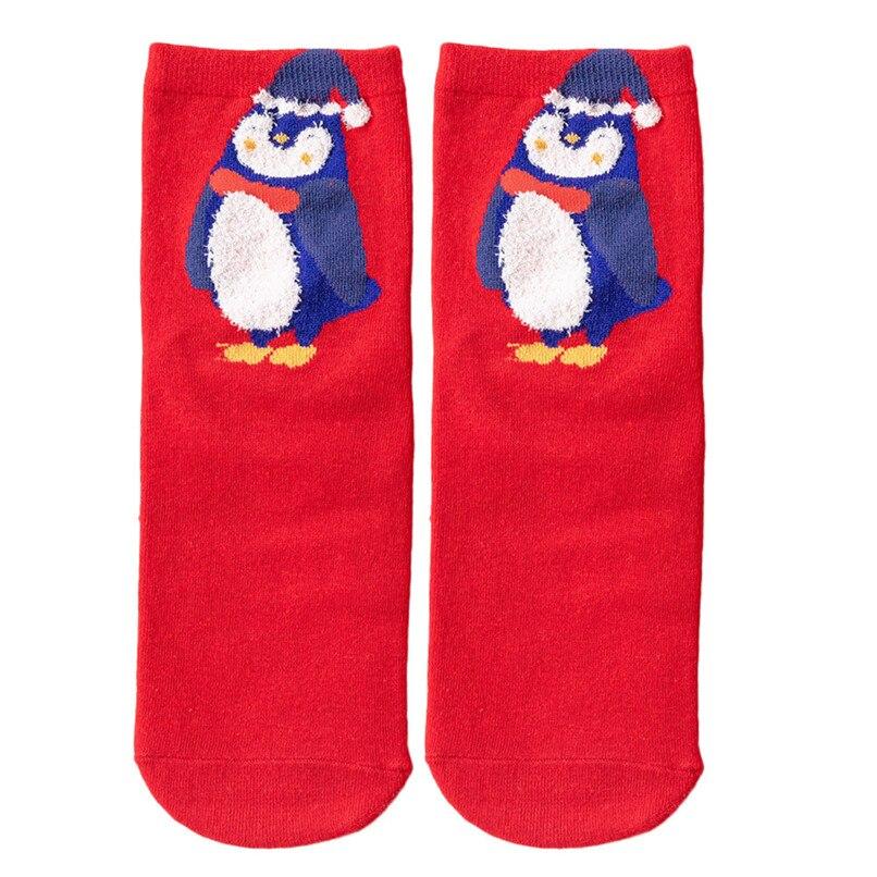 3D Christmas Socks Women Skiing Cycling Cartoon Funny Happy Crazy Cute Amazing Novelty Print Ankle Socks #2s26#F (2)