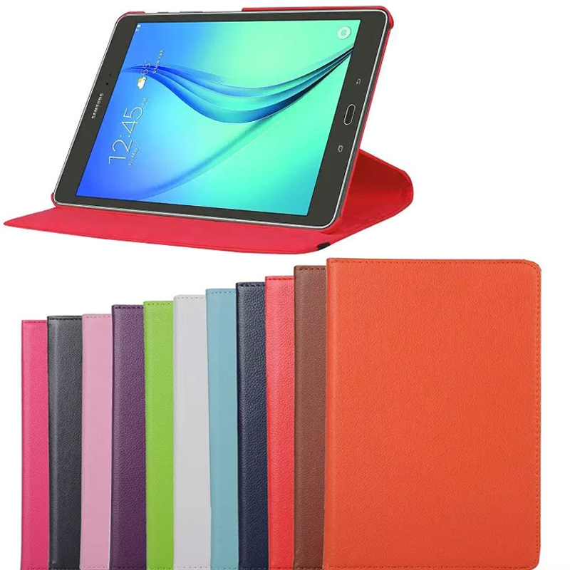 360 Degree Rotating Leather Cover For Samsung Galaxy Tab A 9.7 T550 T555 Case for Samsung Tab A 9.7 S-Pen Version P550 P555 Case