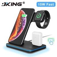ユニバーサル 15 ワットチーワイヤレス充電器 Iphone × 8 Xiaomi 急速充電 3.0 急速充電器ドックアップル airpods 腕時計 4 3 2 1