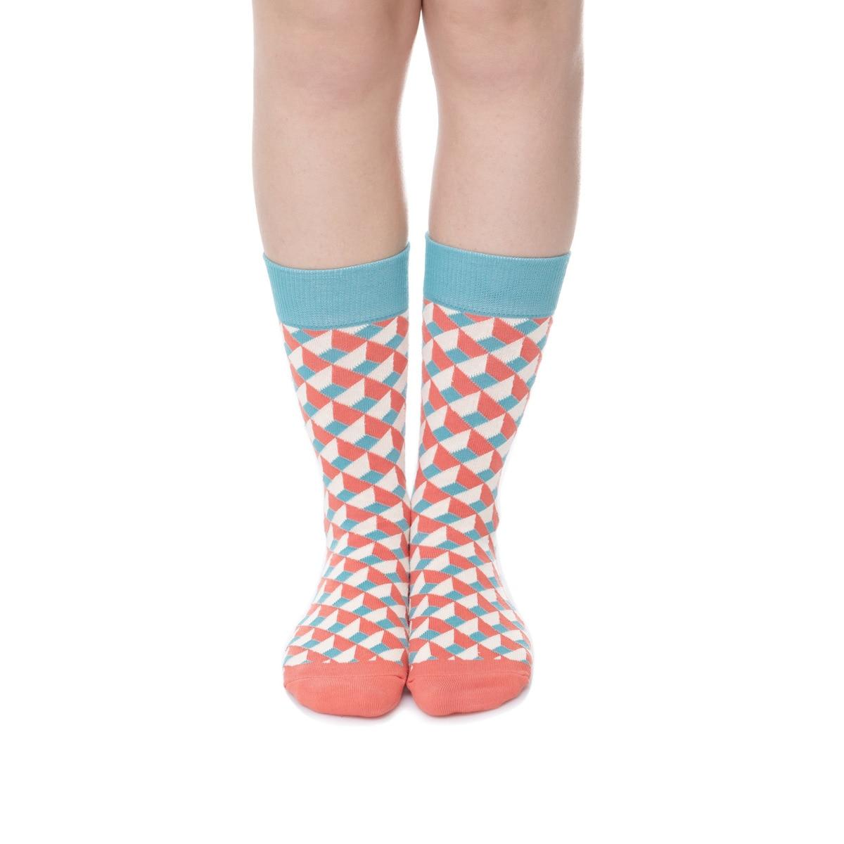 3fdc25172b850e US $2.65 46% OFF|PEONFLY USA (6 10) farbe geometrische muster lange kleid  high Lustige Socken männer frauen Liebhaber Socken Männlichen Voll ...