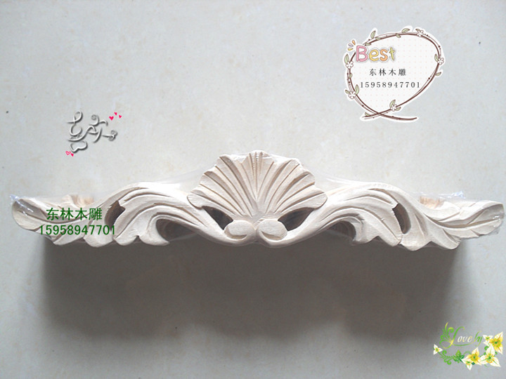 Wood carving Dongyang wood furniture home accessories applique woodcarving Motif components hp-004 - jiang yan's store