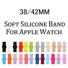 Sports silicone Band For Apple watch Series 3 / 2 / 1 Replace Bracelet Strap watchband Watchstrap for apple watch 42mm 38mm(China)