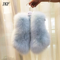 Kids Real Fox Fur Vest Girl natural Fox Fur Vest Coat Baby Warm Winter Children Fox Fur jacket