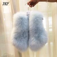 Kids Real Fox Fur Vest Girl natural Fox Fur Vest Coat Baby Warm Winter Children Fox Fur jacket