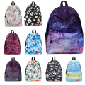 Supreme Big capacity Women Art Oil Painting Backpack Floral Flower Eastpack Scenery Space Printed School Bag For Teenager Girls