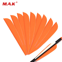 High Quality 2 Color 36/60pcs 4 Inches Plastic Arrow Feather Vans DIY Arrow for Outdoor Archery Hunting Shooting