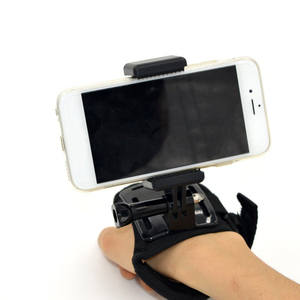 Image 2 - נייד שחור מצלמה אבזר מתכוונן הר עם 1/4 בורג חור טלפון מחזיק Stand סוגר קליפ חצובה מתאם עבור GoPro