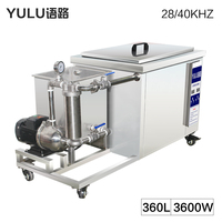 360L Industrial Ultrasonic Cleaner Bath Filter System Power Time Heat degass Sweep Frequency Ultrasound Cleaning Machine Tank