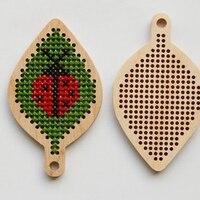 DIY Вышивка крестиком деревянная coccinella septempupata
