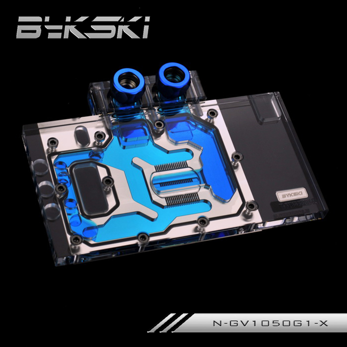 Bykski N-GV1050G1-X Full Cover Graphics Card Water Cooling Block  for Gigabyte GTX1050Ti G1 GAMING Gigabyte GTX1050 G1 GAMING new original graphics card cooling fan for gigabyte gtx770 4gb gv n770oc 4gb 6 heat pipe copper base