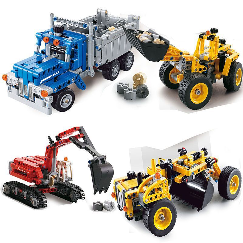 Decool Technic City Series Construction Crew Building Blocks Bricks Model Kids Toys Marvel Compatible 42023 decool technic city series excavator building blocks bricks model kids toys marvel compatible legoe
