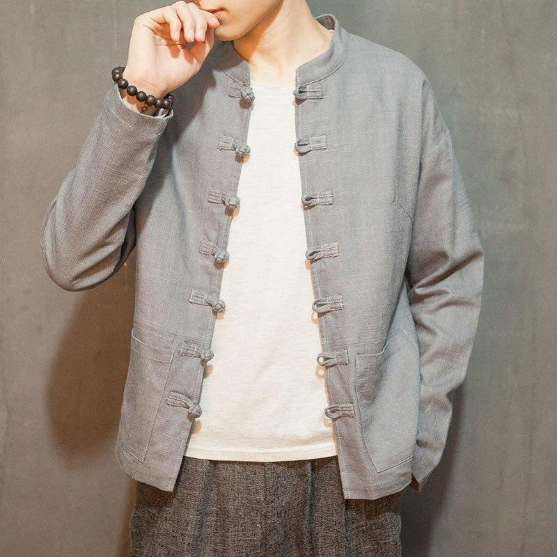 2017 Специальное предложение ограничено весеннего и осеннего ветра китайский Для мужчин воротник гандикап хлопковая куртка пальто рукава ле...