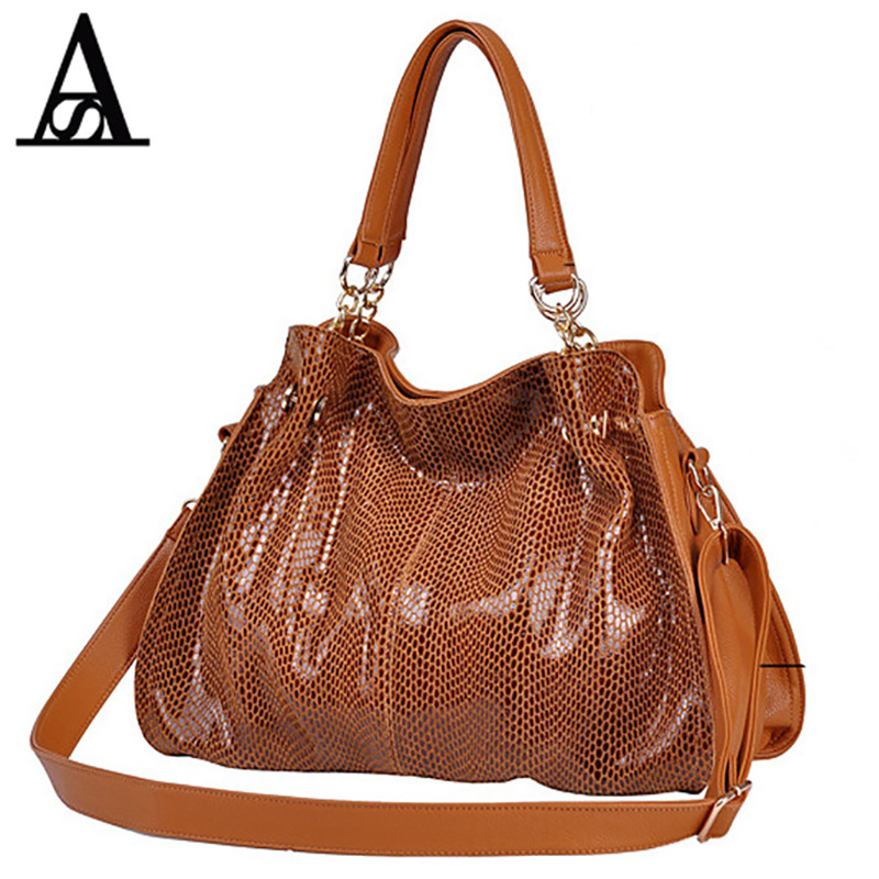 AITESEN Mature Ladies Handbag Snake Skin Pattern Rfid Wallet Single Shoulder Shopping Waterproof Leather Bags Neceser Maquillaje