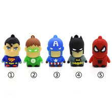 Usb флеш-накопитель U диск мини Супер герой, Супермен, Бэтмен Человек-паук memoria usb 2,0 Флешка Usb флешка 4 ГБ 8 г 16 г 32 г 64 г