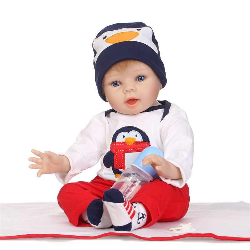 55 см милая кукла реборн и аксессуары мягкая настоящая силиконовая виниловая кукла милые детские игрушки Рождество и день рождения Рождественский подарок