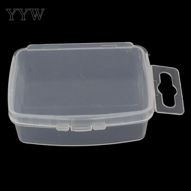 Plastic Jewelry Bead Storage Box Container With Handle 56x40x20mm