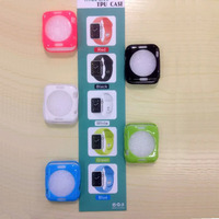 2015 New Arrival Ultra Thin Silicone Soft Cover Case For Apple Watch 38mm 42mm Protective Case
