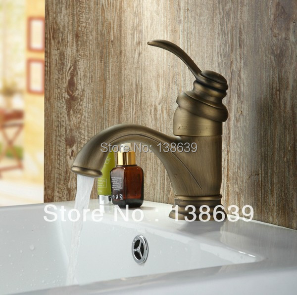 ФОТО Free shipping Classic Brass Bronze Colored Faucets,Single lever brushed bathroom basin sink mixer faucet,wash basin tap-9027