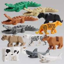 Building Blocks Mini Diy Small Animal Shark Figures Model Compatible With Legoingly Accessory Handmade Toys For Children(China)