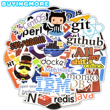 50 PCS Internet Programming Stickers Software Html Logo Funny Cool for Geeks Hackers Developers to DIY Laptop Phone Car