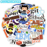 50 PCS Internet Programming Stickers Software Html Logo Funny Cool Stickers for Geeks Hackers Developers to DIY Laptop Phone Car