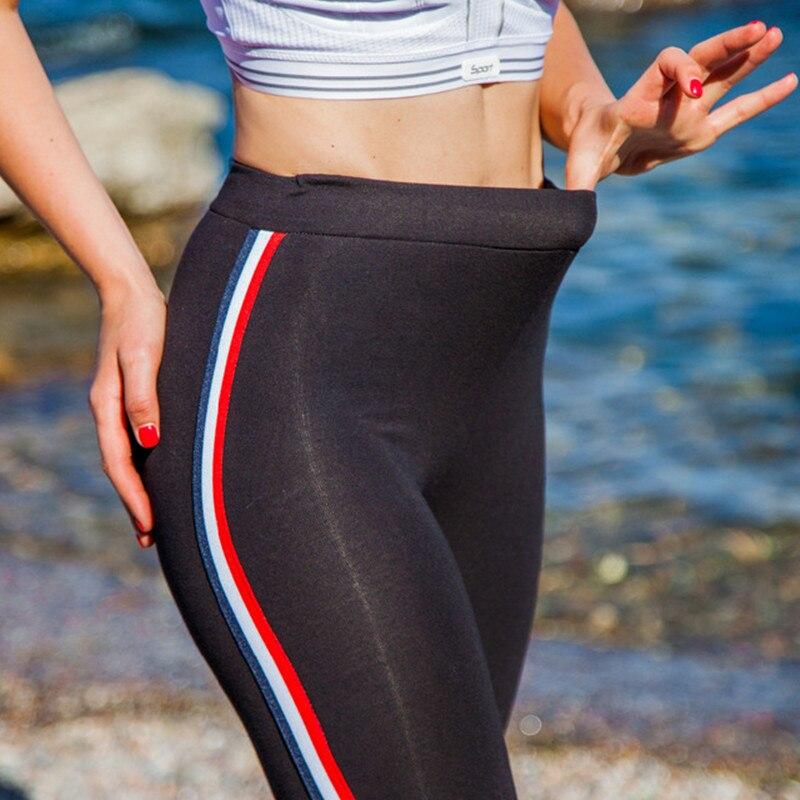 High Quality Cotton Leggings Side stripes Women Casual Legging Pant Plus Size 5XL High Waist Fitness Leggings Plump Female 8