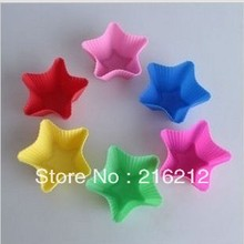 4.4cm Star-shaped Silicone Muffin Cake Cupcake Cup Cake Mould Case Bakeware Maker Mold Tray Baking Jumbo