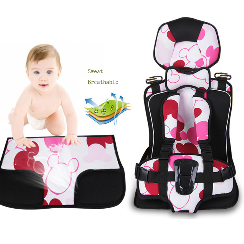 4-12 Years Old Baby Car Safety Seats ,Portable and Comfortable Infant Safety Seat Sweat Breathable Practical Baby Cushion Seats eu free ship car child safety seat isofix 0 6 years old infant safety car baby newborn two way installation safety seats