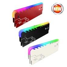 2pcs/lot Desktop Memory Heatsink Cooler Shell RGB 256 Color Automatic Change Aluminum Heat Sink RAM Cooling Vest